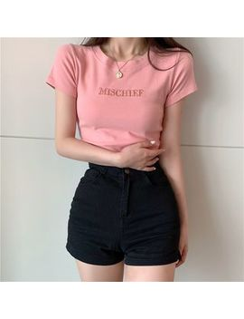 Bb Chic   Short Sleeve Printed Tee by Bb Chic