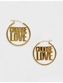 Help Refugees Choose Love Sterling Silver With Gold Plate Earrings by Asos