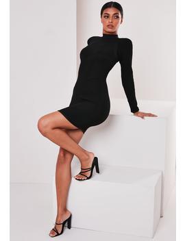 Sofia Richie X Missguided Black Bandage Rib Mini Dress by Missguided