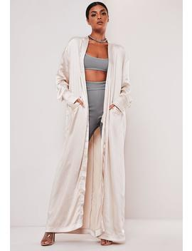 Sofia Richie X Missguided Champagne Long Satin Jacket by Missguided