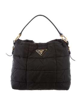 Quilted Tessuto Hobo by Prada