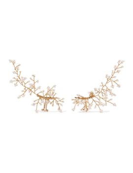 Baby's Breath Vergoldete Ear Cuffs Mit Perlen by 14 / Quatorze