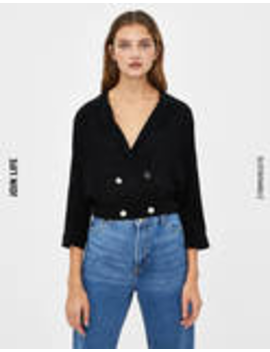 Shirt With Rolled Up 3/4 Length Sleeves by Bershka