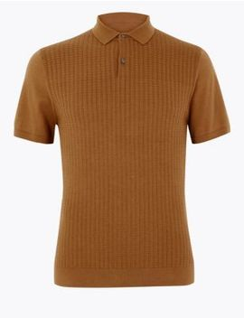 Supima® Cotton Textured Knitted Polo by Marks & Spencer