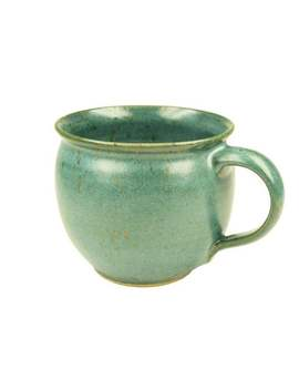 Keramik Tasse Grün, Bauchige Form by Etsy