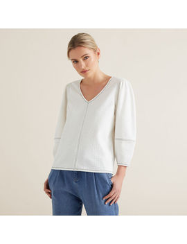 Sleeve Seam Detail Top by Seed Heritage