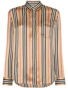 Archive Stripe Silk Shirt by Burberry