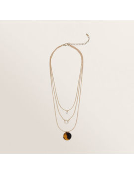 Layered Diamante Necklace by Seed Heritage