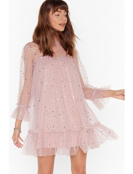 Star And Wide Mesh Mini Dress by Nasty Gal
