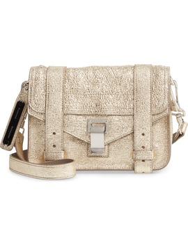 Mini Ps1 Metallic Leather Crossbody Bag by Proenza Schouler