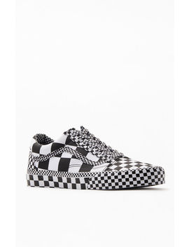 Vans All Over Checker Old Skool Shoes by Pacsun