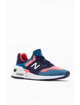New Balance Blue & Pink 997 Sport Shoes by Pacsun