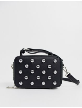 Sacred Hawk Boxy Cross Body Bag With Stud Detail by Sacred Hawk