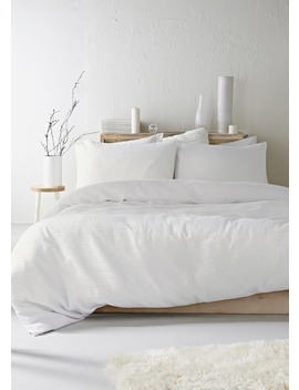 100% Cotton Waffle Duvet Cover by Matalan