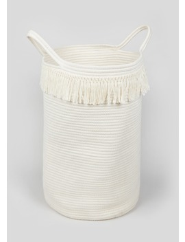 Rope Laundry Basket (57cm X 55cm) by Matalan