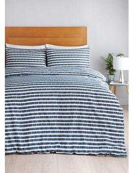 Linear Stripe Duvet Cover by Matalan