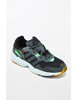 Adidas Black & Green Yung 96 Shoes by Pacsun
