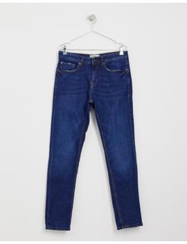 Pull&Amp;Bear Slim Comfort Jeans In Dark Blue by Pull&Bear