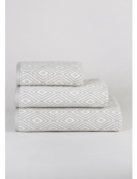 100% Cotton Geometric Towels by Matalan