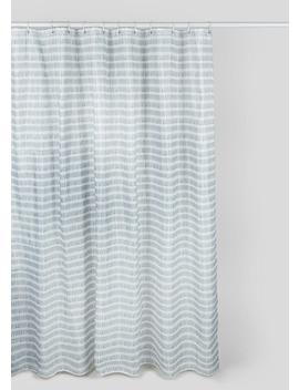 Linear Shower Curtain (180cm X 180cm) by Matalan