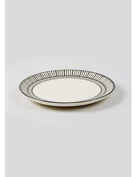 Mono Pad Print Dinner Plate (28cm) by Matalan
