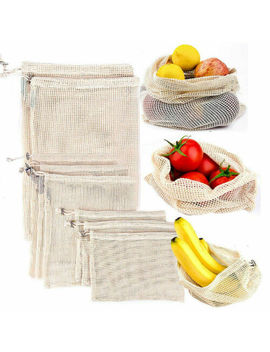 Drawstring Shopping Bag Cotton Grocery Reusable Storage Packing Vegetables Fruit Storage Bag Foldable Reusable Shopping Bag by Ali Express.Com