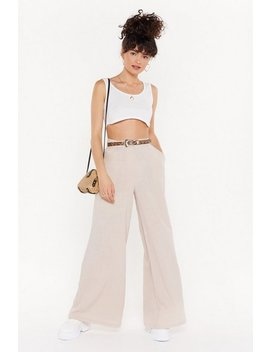 Wide Leg Linen Trousers by Nasty Gal