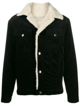Shearling Trim Corduroy Jacket by Maison Kitsuné