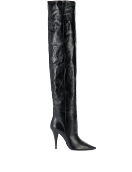 Kiki Thigh High Boots by Saint Laurent