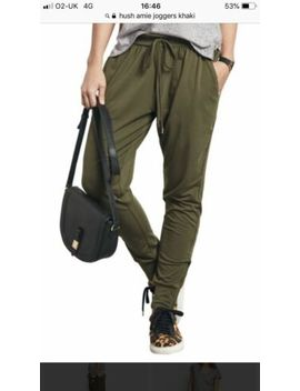 Hush Amie Jogger Trousers In Khaki. Size Small. Fab Condition by Ebay Seller