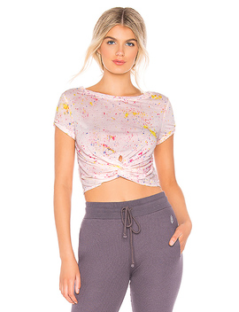 Movement Run In The Sun Print Tee In Pink by Free People