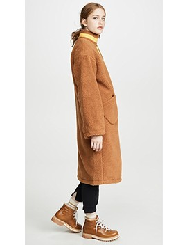 Zip Up Long Teddy Jacket by J.O.A.