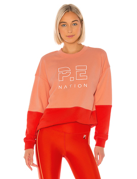 Money Short Sweatshirt In Red by P.E Nation