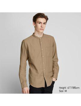 Camisa Cuello Mao Hombre by Uniqlo