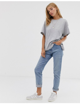 Pull&Bear Oversized Round Neck T Shirt In Grey by Pull&Bear
