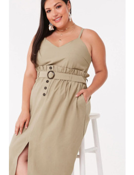 Plus Size Paperbag Midi Dress by Forever 21