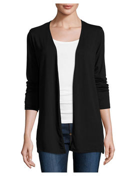 Soft Touch Open Cardigan by Majestic Paris For Neiman Marcus
