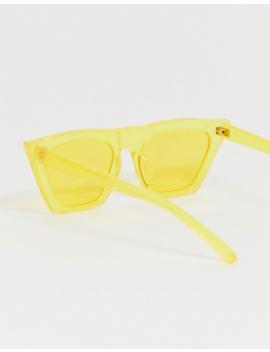 South Beach Neon Yellow Angular Sunglasses by South Beach