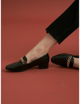 Noa Chain Loafer   Black by Lilyshoe