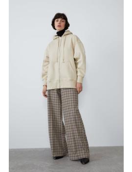 Spodnie Od Szerokiego Garnituru W KratĘ Spodnietrf by Zara