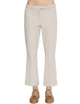Flared Stretch Cotton Twill Pants by Max Mara 's