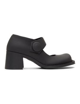 Black Chunky Mary Jane Heels by Maison Margiela