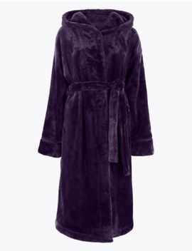 Rosie Supersoft Hooded Long Dressing Gown by Marks & Spencer