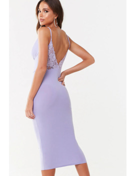 Missguided Lace Back Cowl Dress by Forever 21