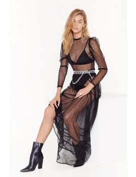 Mesh Is Yet To Come Lace Maxi Dress by Nasty Gal