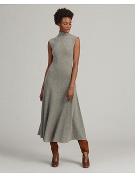 Cashmere Mockneck Dress by Ralph Lauren