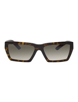 Tortoiseshell Rectangular Sunglasses by Prada