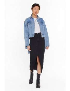Hem Fatale Denim Midi Skirt by Nasty Gal