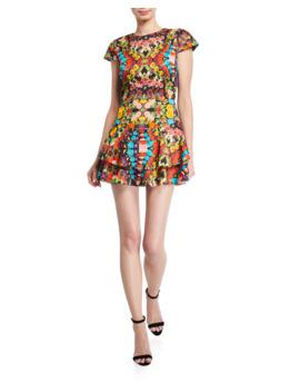Ansley Double Ruffle Dress by Alice + Olivia