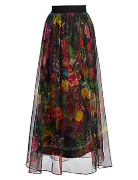 Yvonne Floral Maxi Skirt by Alice + Olivia